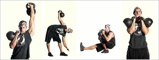 Mike Mahler trains kettlebells