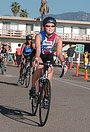 Minnie rides Triathlon